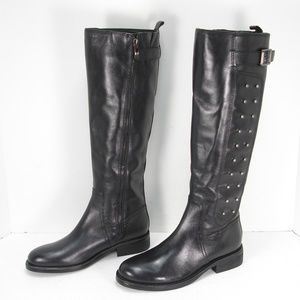 NEW VINCE CAMUTO FIDO LEATHER STUDS BOOTS 6.5 B